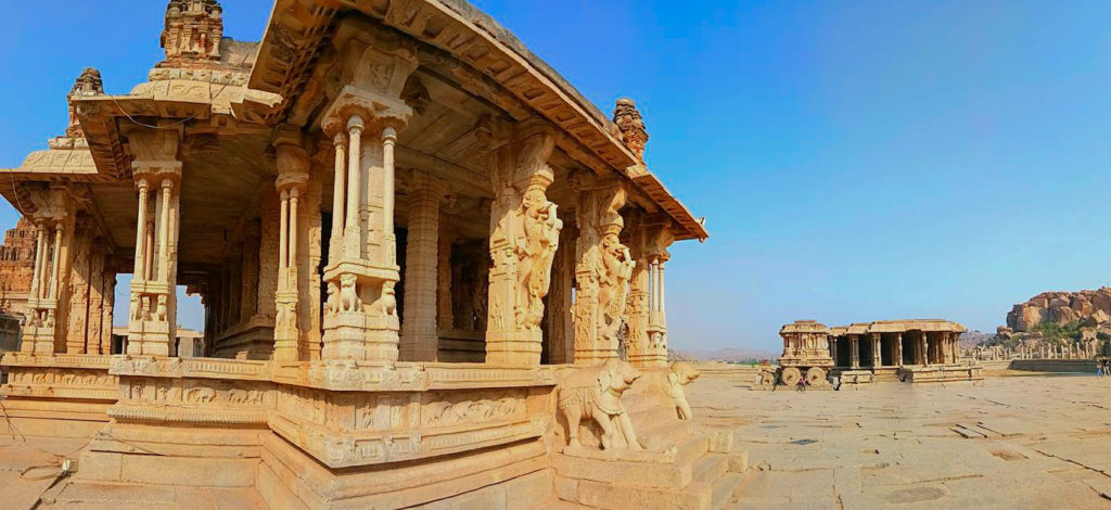panaromic view of the vittala temple complex