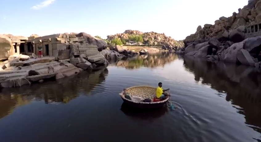 another stunning aerial video of hampi