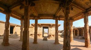 the mandapa inside hazararama temple