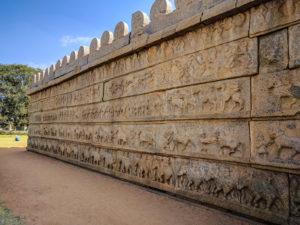 walls of hazararama temple 3