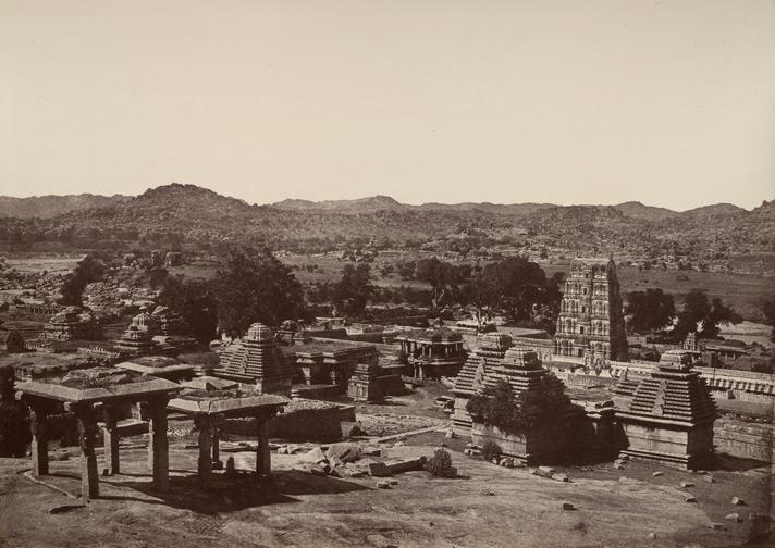 Virupaksha from Hemakuta Hill - William Henry 1857 CE