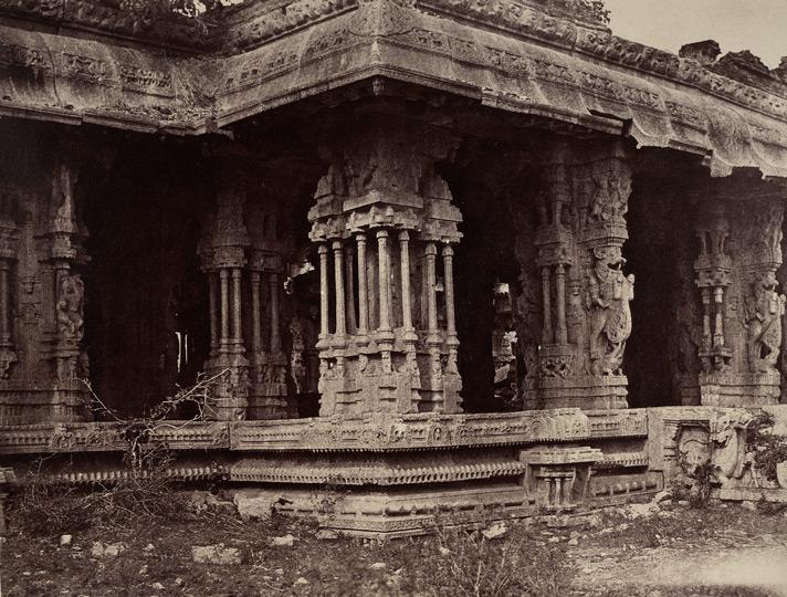 Saptaswara Pillar at the Ranga Mantapa of Vittala Temple - Neill 1856 CE